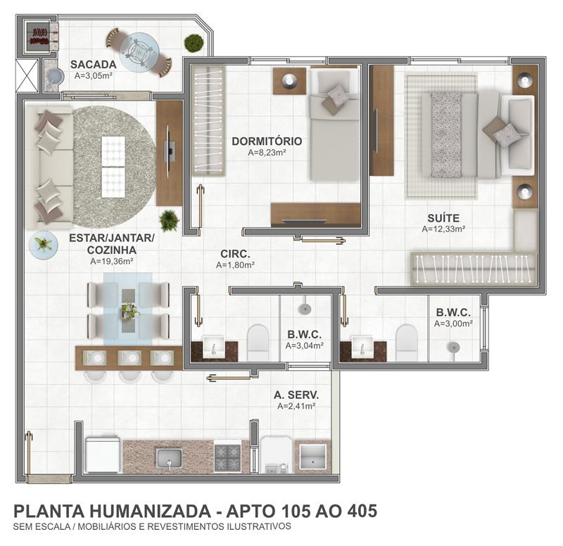 Planta 105 AO 405